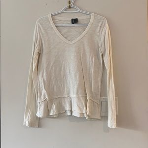 Off white Anthropologie long sleeve